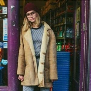 Vintage Shearling Sheepskin Coat