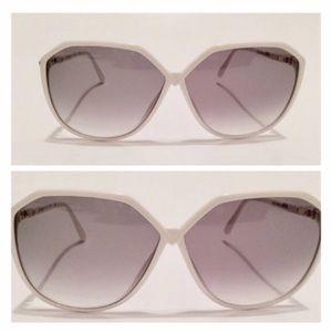Vintage Silhouette White Oversized Sunglasses!