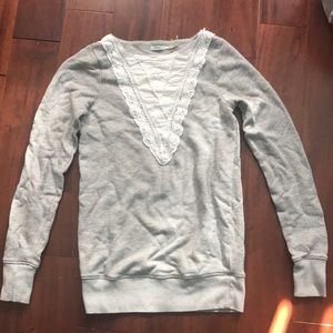 Grey Laced Detail Sweater