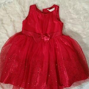 Girls Red Sparkling Formal Dress