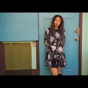 Aritzia-Wilfred Tie Dye Floral Dress
