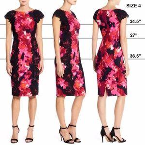 Maggy London Lace Applique Dress NWOT Size 4