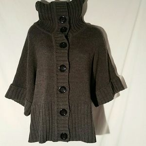 Express Chunky Cape Sweater