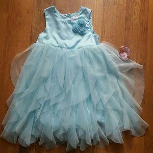 Pale blue flutter dress