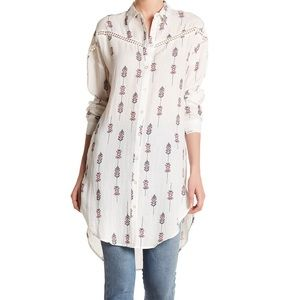 NWT! Nordstrom Moon River Print High Low Tunic