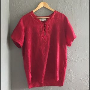 💋Vintage Silky Red Nightshirt 💋