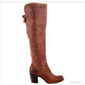 Frye cognac Lucinda slouch knee high boots