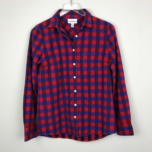 [J Crew] Boy Shirt Poppy Plaid Flannel Blogger 2