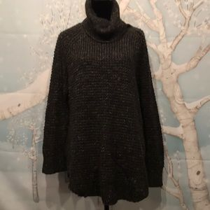 Free People marled olive green sweater