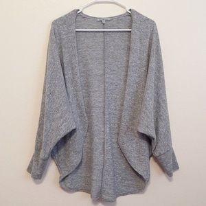 Grey cocoon knit cardigan