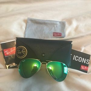 New Mirrored Rayban Aviator Sunglasses