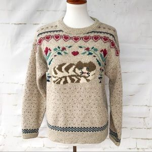 Eddie Bauer Woman's Wool Blend Cat Sweater