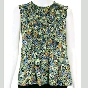 Zara Basic Collection Floral Print Top Size XS