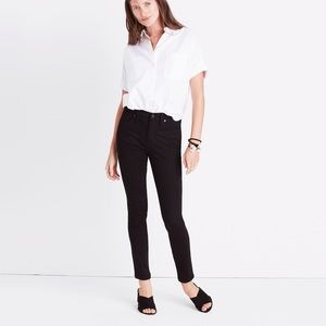 """Madewell Taller 9""""High-rise Black Jeans 28 TL"""