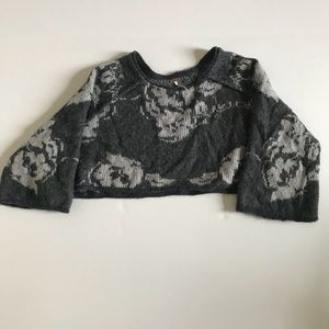 Free People Gray Crop Top Sweater Size XSmall