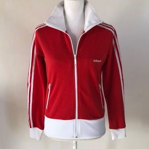 Adidas Classic Red Zip-up, M