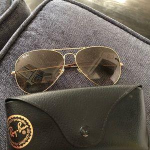 Rayban aviator gradient sunglasses