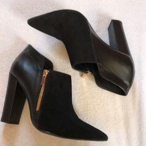 Black Shoemint suede booties.