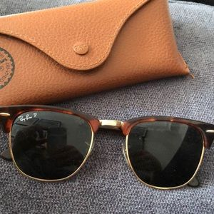 Ray-ban black and tortoise clubmaster sunglasses