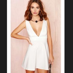 New nasty gal Take the plunge fit & flare dress