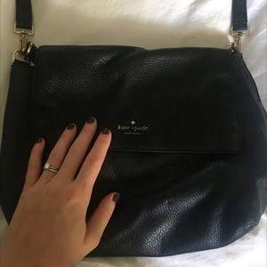 Black leather Kate spade bag