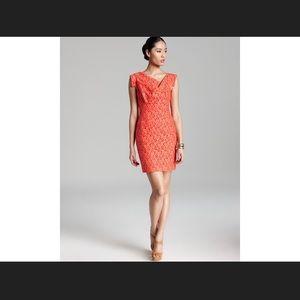 Black halo Jackie o mini lace coral dress size 2