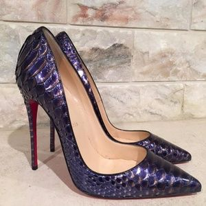 6a962f536061 Christian Louboutin Shoes - Christian Louboutin So Kate 120 Python Snake  Blue