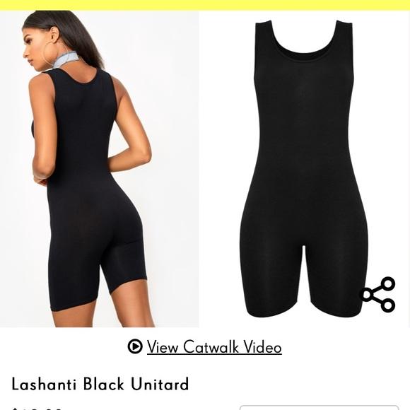 f9bbe22d8c15 Pretty Little Thing black shorts bodysuit