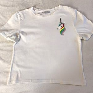 ZARA unicorn crop top.