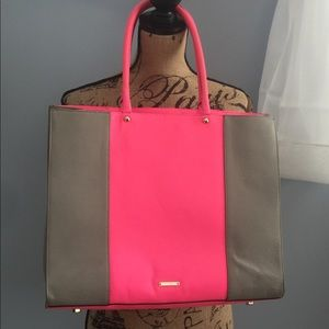 Rebecca Minkoff pink and grey tote, New.