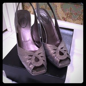 Prada metallic shoes
