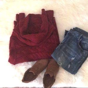 Cowl turtleneck sweater NWOT