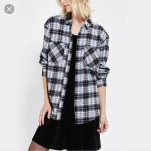 Black and white flannel never worn