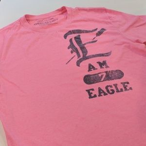 American Eagle Outfitters Pink T-shirt