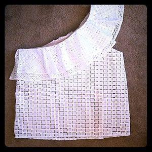 White one sleeve blouse