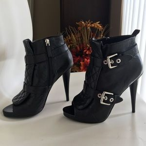 Black Leather Shoes By Nine West