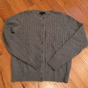 J.Crew gray cable cardigan