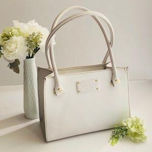♠️ Kate Spade ♠️ White Pebbled Leather Handbag