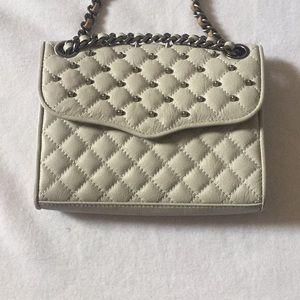 Rebecca Minkoff Light Gray Studded Affair Bag GC