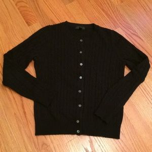 J.Crew black cable cardigan
