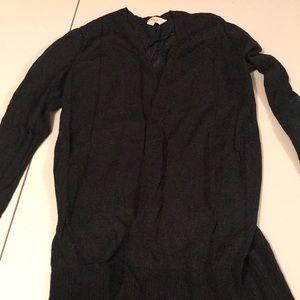 Black sheer cardigan