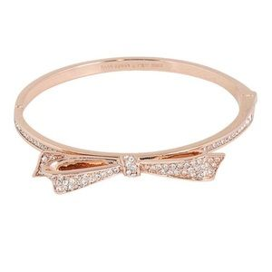 NWOT Kate Spade Rose Gold Bow Bracelet
