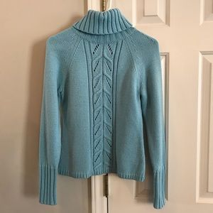 Loft blue turtleneck sweater