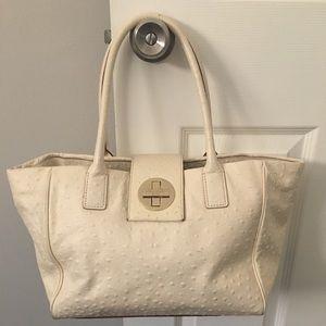 Kate Spade Anissa White/Off-White Leather Bag