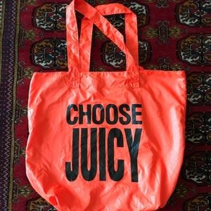 JUICY COUTURE Umbrella Neon Orange TOTE BAG