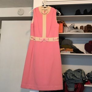 Vintage (year unknown) pink belted dress