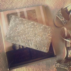 Glint Crystal Embellished Clutch