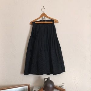 VINTAGE Black Quilted Skirt