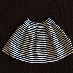 Express black and white striped skirt