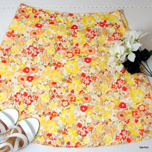 Sonoma Lifestyle stretch floral skirt